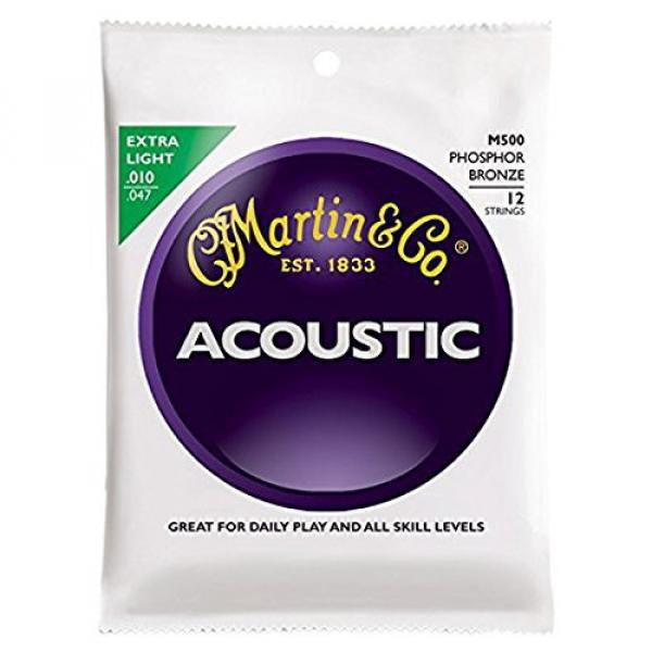 Martin M500 Phosphor Bronze 12-String Acoustic Guitar Strings, Extra Light