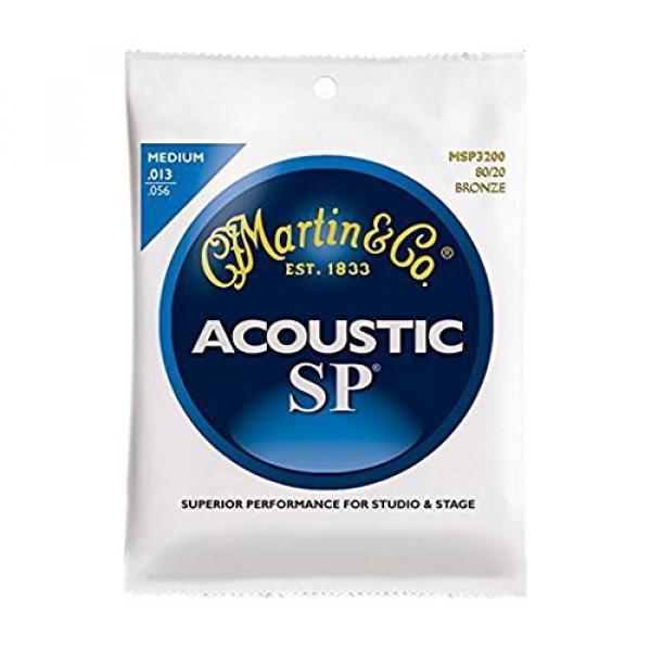 Martin MSP3200 SP 80/20 Bronze Acoustic Guitar Strings, Medium