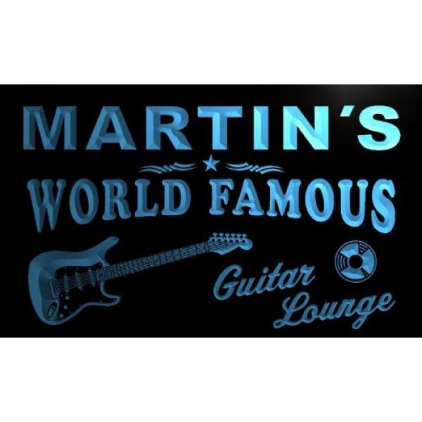 pf085-b Martin's Guitar Lounge Beer Bar Pub Room Neon Light Sign