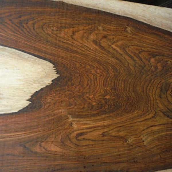 super figured Cocobolo Rosewood, planed 2 inches thick ONE BOARD FOOT kiln dried