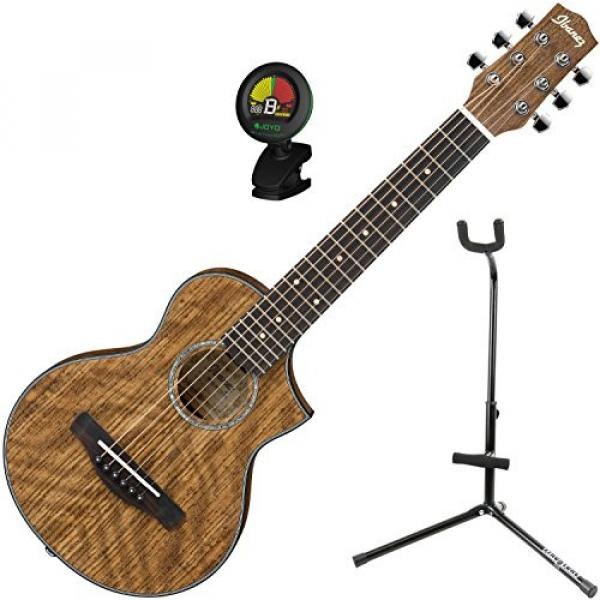 Ibanez EWP14OPN Open Pore Natural Piccolo Guitar w/ Tuner and Stand