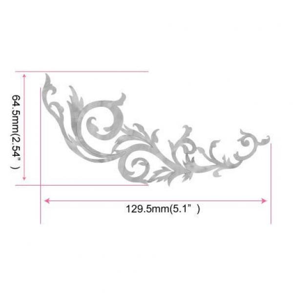 Inlay Sticker Decals for Guitar Bass - L&R Set Gothic Line -WS
