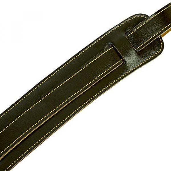 "Guitar Strap, Guitar Acessories Real Leather with A Shoulder Pad Strap for Bass & Guitar Adjustable Length from 41"" to 59"" (Brown)"