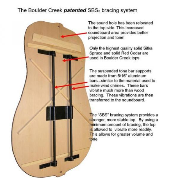Boulder Creek EBR3-N4F Acoustic-Electric 4-String Fretless Bass