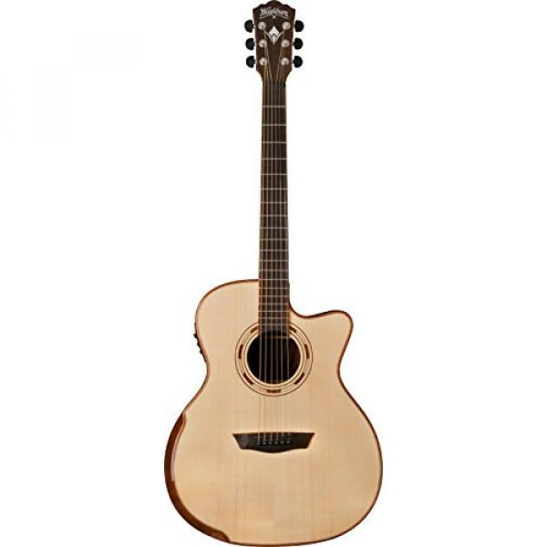 Washburn USM-WCG25SCE Comfort Series Acoustic Electric Guitar, Natural