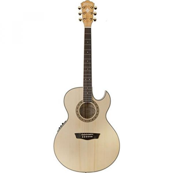 Washburn USM-EA40SCE Cumberland Series Acoustic Electric Guitar, Natural