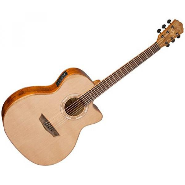 Washburn WLG66SCE Grand Auditorium Acoustic Guitar - Natural