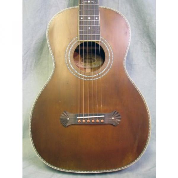 Washburn Vintage R314k Aged Distressed Parlor Acoustic Guitar w/ Case
