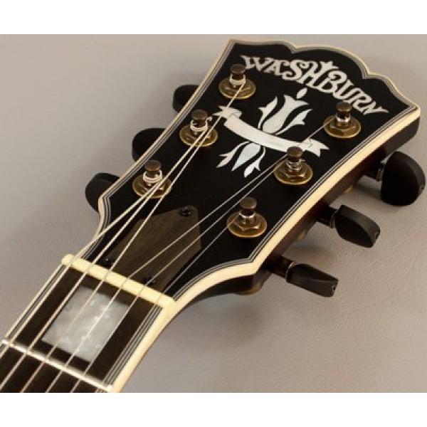 Washburn Hb36k Spruce Flame Maple Vintage Hollowbody Electric Guitar