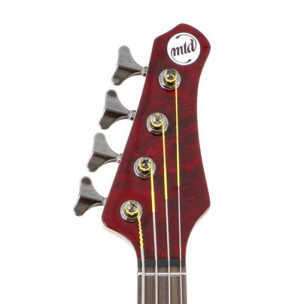 "MTD Kingston ""The Z"" Bass Guitar (4 String, Rosewood/Transparent Cherry)"