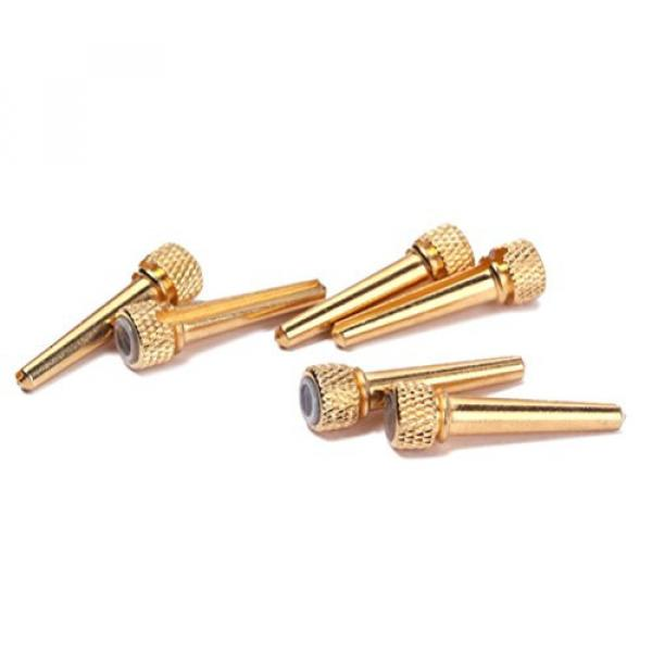 Acoustic Guitar Bone Bridge Pins with Abalone Dot and Brass Circle Skirt 6pcs