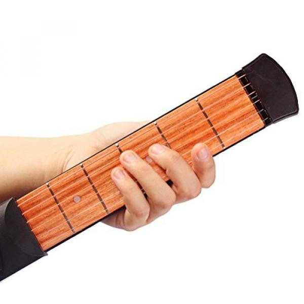 ROSENICE Pocket Guitar Practice strings tool Gadget Guitar Chord Trainer 6 Fret-1 Piece