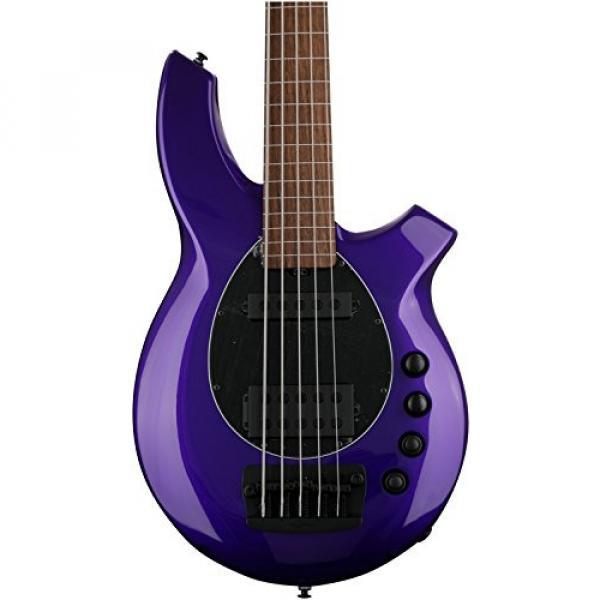Ernie Ball Music Man Bongo 5 HS Fretless - Firemist Purple