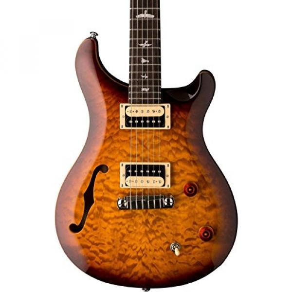 PRS SE Custom 22 Semi-Hollow Electric Guitar Tobacco Sunburst