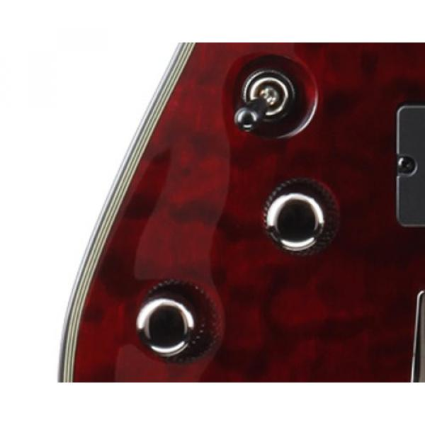 Schecter Damien Elite-8 Left Handed Eight String Electric Guitar - Crimson Red
