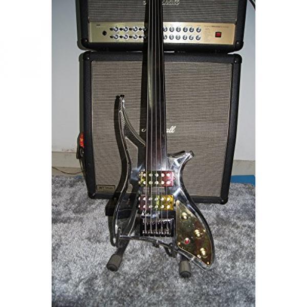 Starshine 5 strings fretless electric bass guitar acrylic body led light colorful ebony fingerboard (Colorful led)