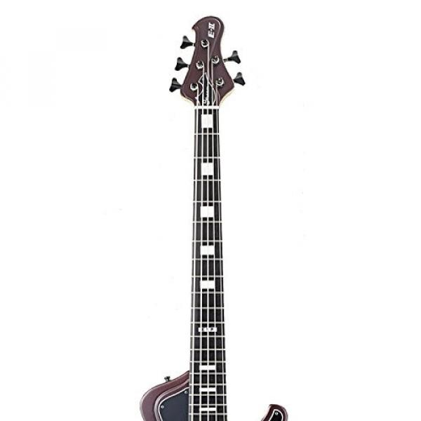 ESP EIISTREAMSL5DMRS Bass Guitar, Deep Red Metallic Satin
