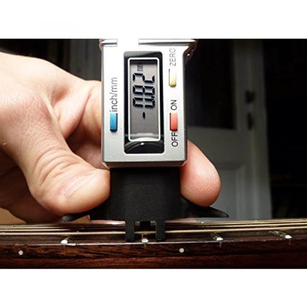 Bass string action/fret height/nut slotting gauge, 0.01 mm resolution, 3 in one TOOL!