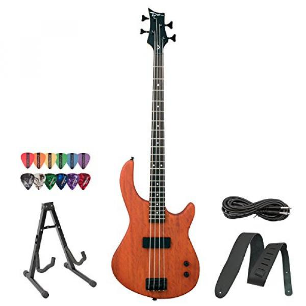 Dean Edge 09 Mahogany Electric Bass with Cable, Strap, 12 Pick Sampler Pack & Stand!