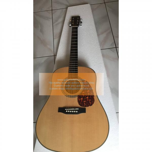 Custom Martin HD-28 Acoustic Guitar Natural Wood 2018 New For Sale