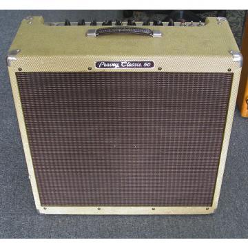 Custom Peavey Classic 50 Combo Guitar Tube Amp Cab 410 w/ Footswitch Tweed