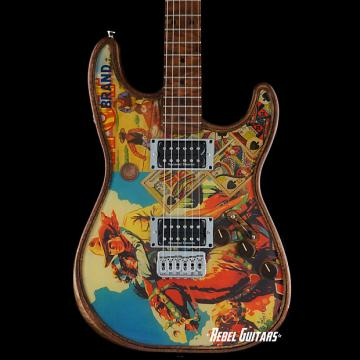 "Custom Walla Walla Guitar Seeker Pro Crystal ""Western Hero"" Strat Guitar Stratocaster"