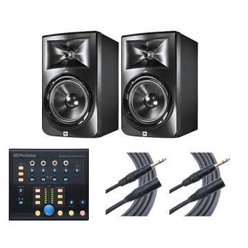 Custom 2x JBL LSR308 + Monitor Station V2 + Mogami Cables