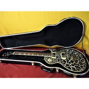 Custom 2001 Gibson Epiphone Les Paul Nuclear Extreme Electric Guitar Rare + SKB HSC MIK Black Crackle