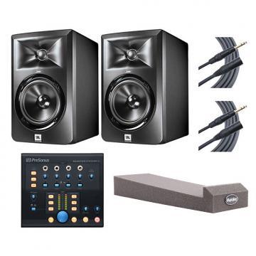 Custom 2x JBL LSR305 + Monitor Station V2 + MoPADs + Mogami Cables