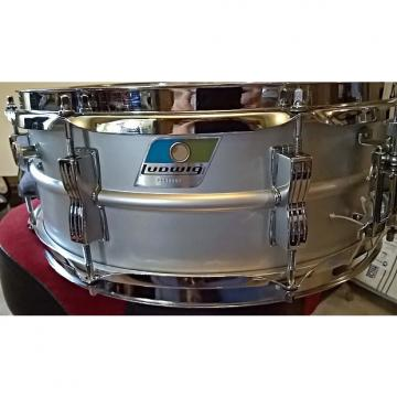 Custom Ludwig  1976 Acrolite Grey Aluminum with original case and Ludwig stand