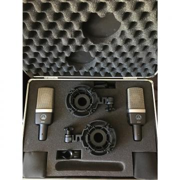 Custom AKG C214 Stereo Matched Pair W/ Case Condenser Vocal Instrument Mic