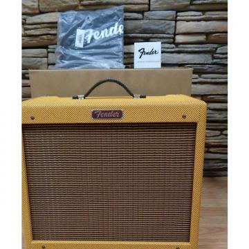 Custom Fender Blues Junior Lacquered Tweed w/ footswitch, slip-cover
