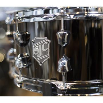 Custom SJC 6.5x14 Black Nickel Over Steel Snare Drum