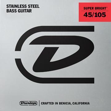 Custom Dunlop Super Bright Steel Wound Bass String Set .45-.105 - 3 Sets @ $29.00