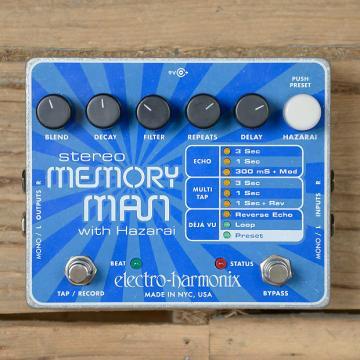 Custom Electro-Harmonix Stereo Memory Man with Hazarai USED