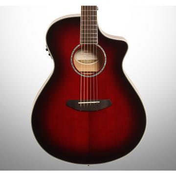 Custom Breedlove Limited Edition Pursuit Concert Acoustic-Electric Guitar (with Gig Bag), Merlot