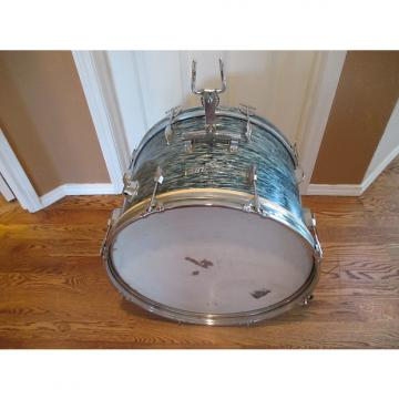 Custom Pearl Vintage 22 Inch Bass Drum, 1960s, Blue Oyster, Japan Made Very Clean!