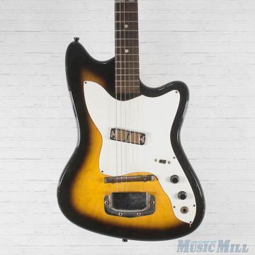 Custom Vintage '60s Harmony H14 Bobkat Electric Guitar Vintage Sunburst USA Made Gold Foil Pickup