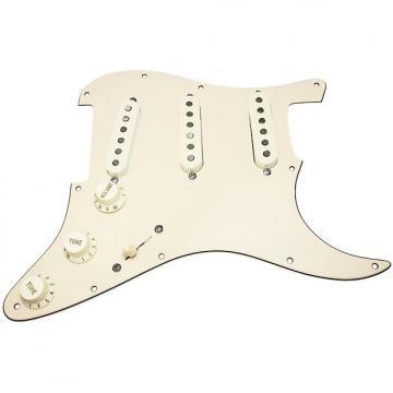 Custom Loaded Strat Pickguard, Fender Deluxe Drive Pickups, Blend Pot, Cream/Aged White