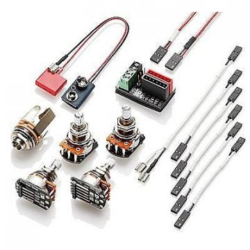 Custom EMG Active Wiring Conversion Kit For 1 or 2 Pickups Short Shaft Pots Solderless