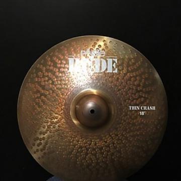 "Custom Paiste 18"" RUDE Thin Crash 2000's"