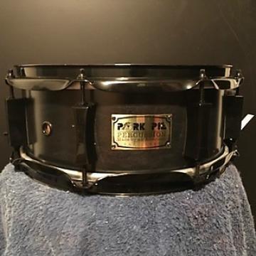 Custom pork pie percussion 5 x 12 little squealer  maple snare drum 2004 black