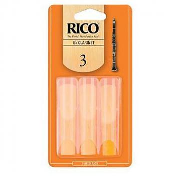 Custom Rico Bb Clarinet Reed Size 3, 3 Pack