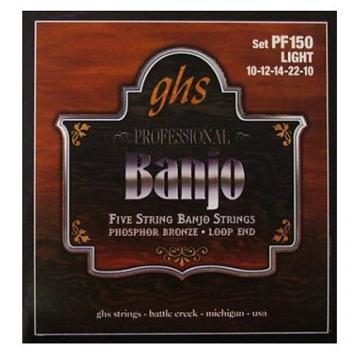Custom GHS Banjo 5 Strings Phosphor Bronze Loop End - Light