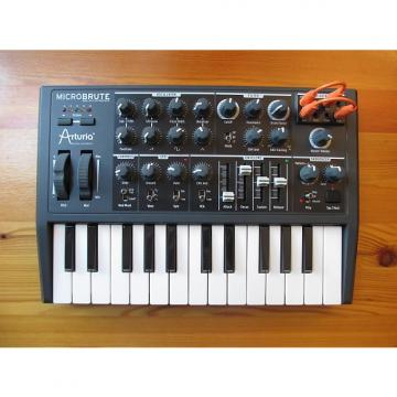 Custom Arturia Microbrute with extra cables for the CV patch pay