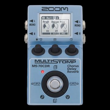 Custom Zoom MS-70CDR MultiStomp Chorus/Delay/Reverb Pedal - Repack with 6 Month Alto Music Warranty!