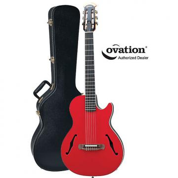 Custom Ovation YM63 Yngwie Malmsteen Viper Nylon-String Red Acoustic-Electric Guitar