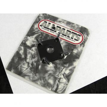 Custom Allparts Jackplate for Les Paul Black w/ Screws AP 0633-003