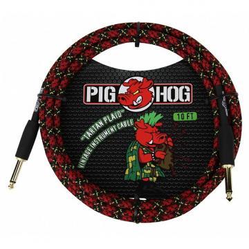 Custom Pig Hog PCH10PL Tartan Plaid Instrument Cable 10 Feet