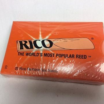 Custom #2 Rico Baritone Saxophone Reeds - Sealed Box of 25 - Original Style Packaging.